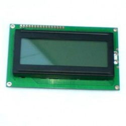 Display LCD 20x4 Sem Back Fundo Verde Letra Preta JHD204
