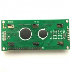 Display LCD 16x2 Sem Back Fundo Verde (80x36x9,5mm)
