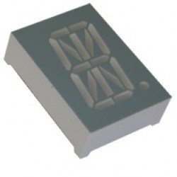 Display De Led Alfanumérico Azul Anodo 0,8 D8X14AB-14BL