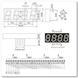 """Display De Led Vermelho Anodo Quadruplo SH5463BS 0,56"""""""
