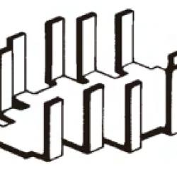 Dissipador de Calor 180623 Com Furo Anodizado Preto