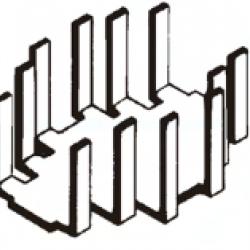 Dissipador de Calor 180626 Com Furo Anodizado Preto