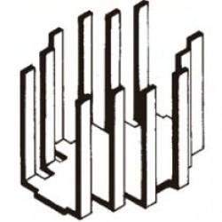 Dissipador de Calor 180541 Com Furo Anodizado Preto