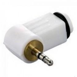 Plug P1 Estéreo 90 Graus Branco