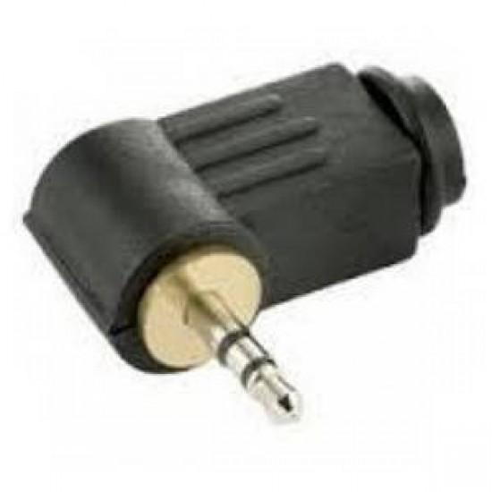 Plug P1 Estereo 90 Graus Preto