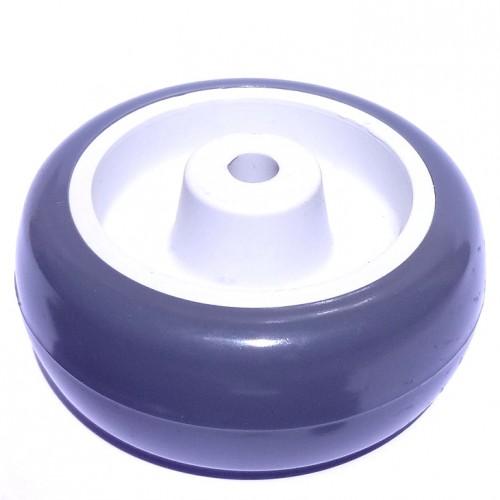 Roda De Plastico Branco 3 Polegadas Sem Rolamento 76X39mm