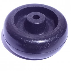Roda De Plastico Preta 3 Polegadas Sem Rolamento 76mm X 39mm