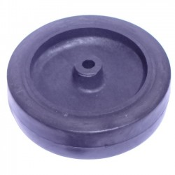Roda De Plastico Preta 5 Polegadas Sem Rolamento 123mm X 33mm