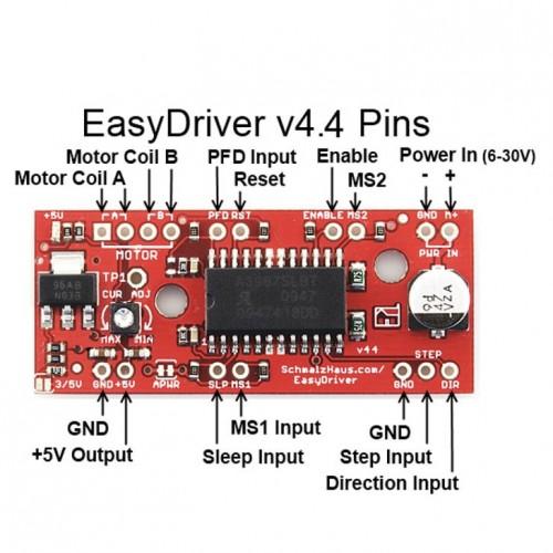 Módulo Driver Para Motor De Passo Easydrive A3967