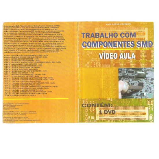 DVD Curso De Trabalho Com Componentes SMD