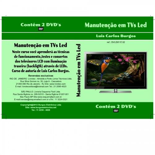 DVD Manutenção Em TVs Led