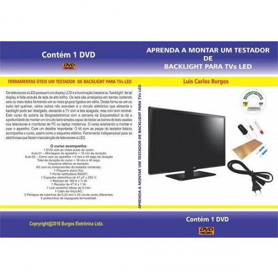 DVD Aprenda A Montar Um Testador De Backlight Para TVs De LED
