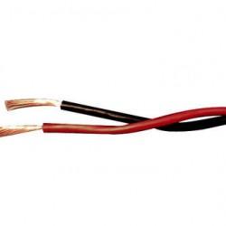 Fio Paralelo Preto E Vermelho Torcido 2x0,75mm (metro)