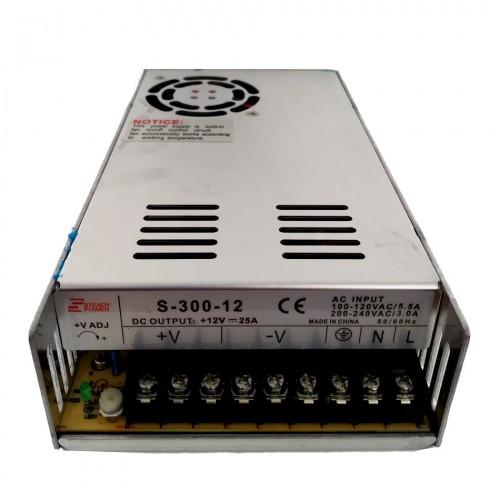 Fonte Chaveada Industrial 300W 12V 25A (S-300W/BFC-300W-12VDC)