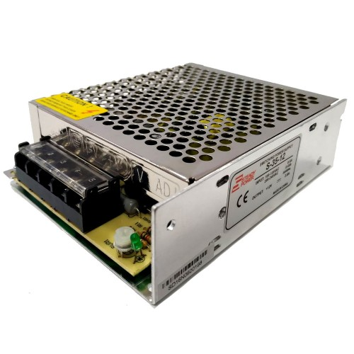 Fonte Chaveada Industrial 35W 12V 2,9A (S-035W/BFC-35W-12VDC)