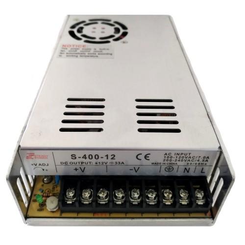 Fonte Chaveada Industrial 400W 12V 33A (S-400W/BFC-400W-12VDC)