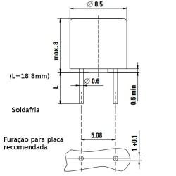 Pico Fusível 5A 8mm Marrom