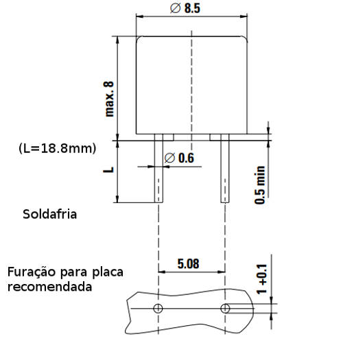 Pico Fusível 0,2A 8mm Marrom