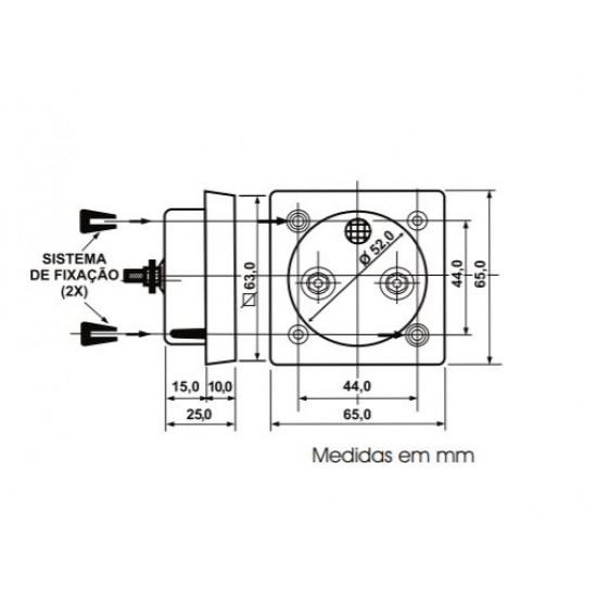Amperimetro Analógico Renz QR65 10A CA