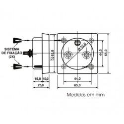 Voltimetro Analógico Renz QR65 500V CA