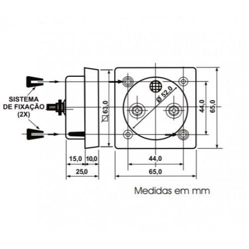 Voltimetro Analógico Renz QR65 250V CA