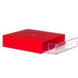 Gaveteiro CG101 Vermelho Com 1 Gavetas E 5 Divisórias