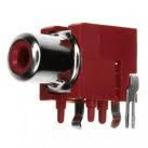 Jack RCA 3 Terminais Vermelho Para Placa