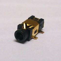 Conector Jack Smd PJ-209 2,5mm 5T Dourado