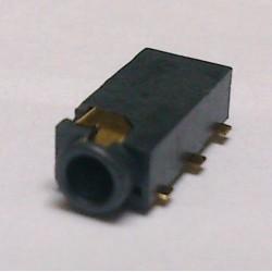Conector Jack Smd PJ-242-1 2,5mm 6T Dourado