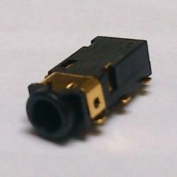 Conector Jack Smd PJ-242-2 2,5mm 6T Dourado