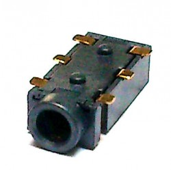 Conector Jack Smd PJ-242D 2,5mm 6T Dourado