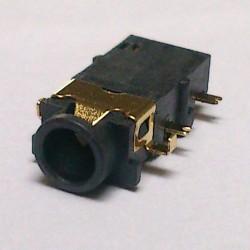 Conector Jack Smd PJ-31060-7 (1,4) 3,5mm 6T Dourado