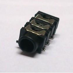 Conector Jack Smd PJ-313D 3,5mm 6T Prata