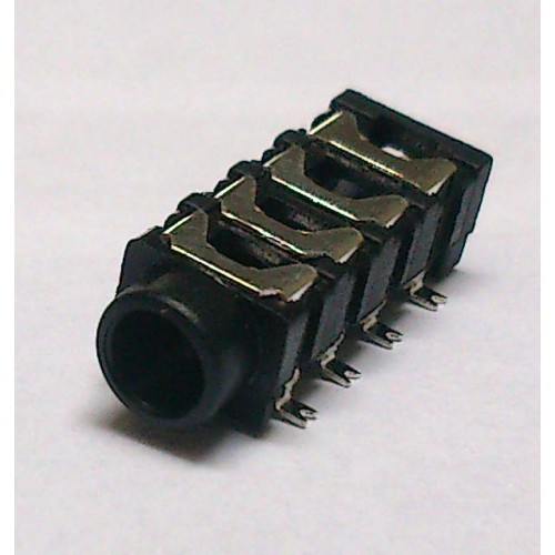Conector Jack Smd PJ-313E 3,5mm 8T Prata