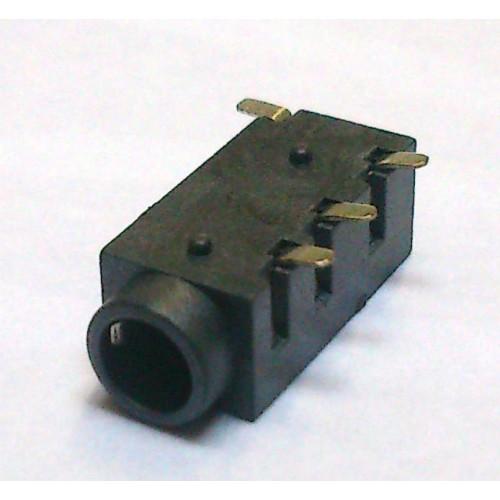 Conector Jack Smd PJ-320D 3,5mm 4T Prata