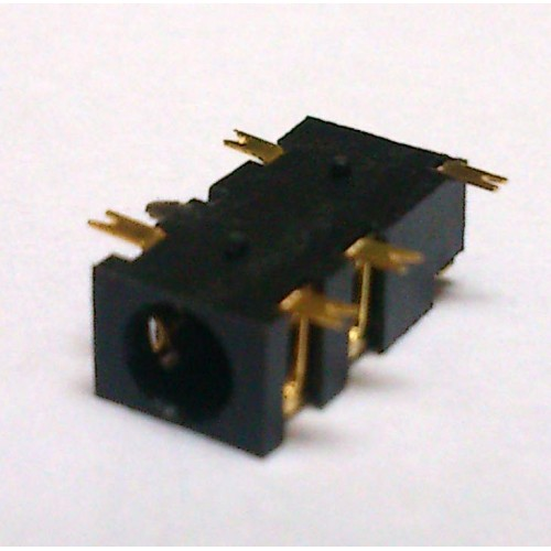 Conector Jack Smd PJ-327A-1 3,5mm 5T Dourado
