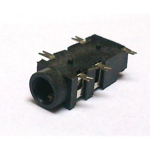 Conector Jack Smd PJ-327A-2 3,5mm 5T Prata