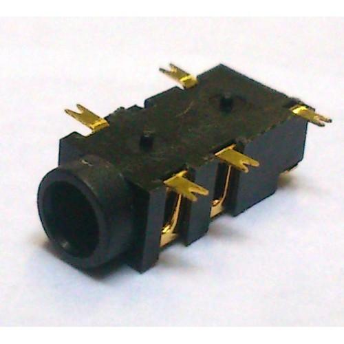 Conector Jack Smd PJ-327A 3,5mm 5T Dourado