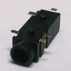 Conector Jack Smd PJ-328 3,5mm 5T Prata