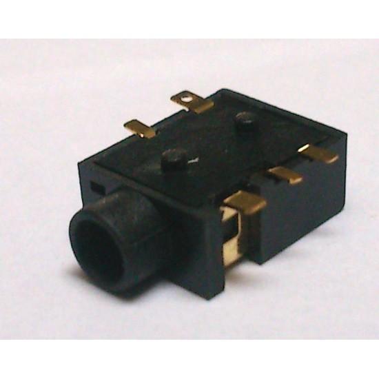 Conector Jack Smd PJ-365 3,5mm 5T Dourado