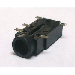 Conector Jack Smd PJ-381 3,5mm 5T Prata