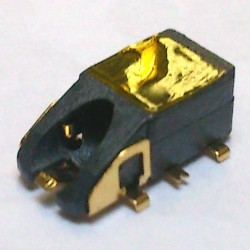 Conector Jack Smd PJ-6B1000 6T Dourado