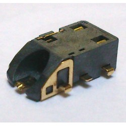 Conector Jack Smd PJ-6B1001 6T Dourado