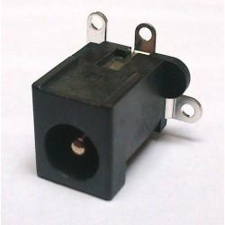 Conector Jack Smd DC-021H 3T Em Pé 2,5mm Encaixe Duplo