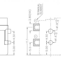 Conector Jack Smd DC-050 2,5mm 4T