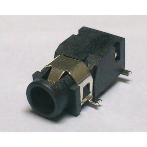 Conector Jack Smd PJ-321F 3,5mm 4T 3 Faixas Prata