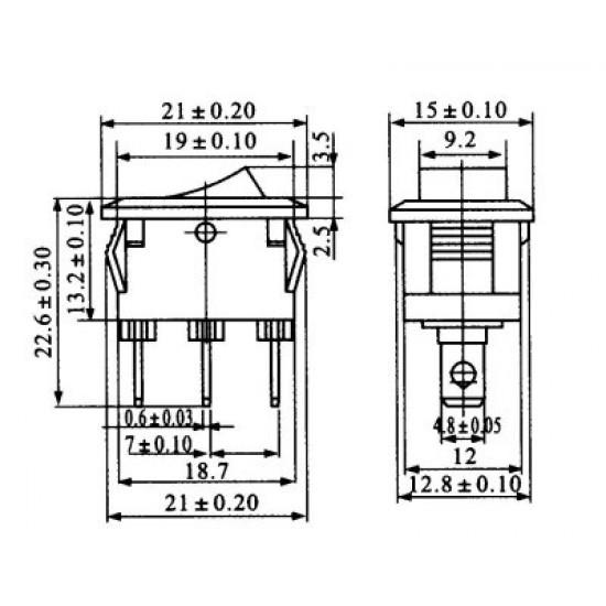 Chave Gangorra KCD1-102 Vermelha
