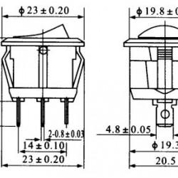 Chave Gangorra KCD1-106-101 Preta