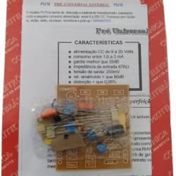 Kit Pré Amplificador Estéreo Modelo PU10