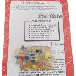Kit Pré Amplificador Mono Modelo PU1
